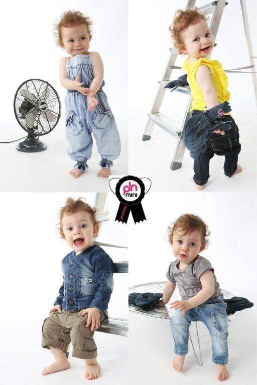 Phatoak Mini, ropa vaquera y camisetas para bebés, moda infantil de Phatoak Mini colección de verano