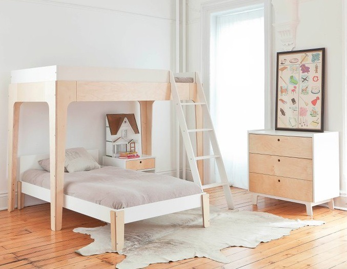 Habitaciones infantiles, literas para ahorrar espacio, mueble infantil de diseño de Oeuf NYC