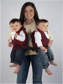 TwinTrexx, portabebés gemelar o individual, accesorios de puericultura
