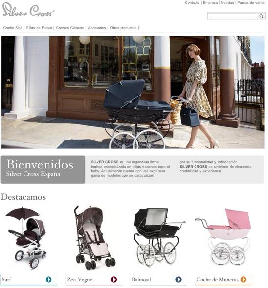 Silver Cross, cochecitos para bebé clásicos y modernos, nueva web de Silver Cross