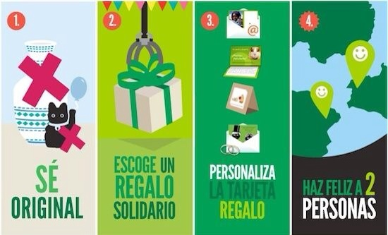 Oxfam Novib, regalos solidarios, regala felicidad esta Navidad con Oxfam Novib
