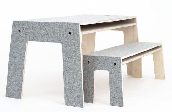 Perludi, mesa y silla para niños, muebles infantiles, habitación infantil de Perludi