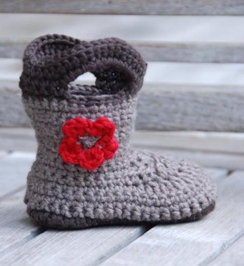 Botas crochet de bebés - Imagui