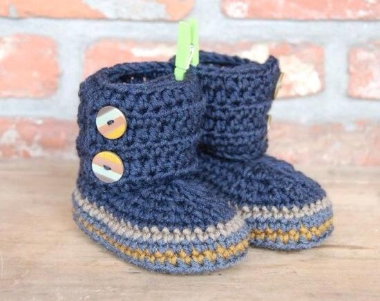 Botas a crochet para bebé - Imagui