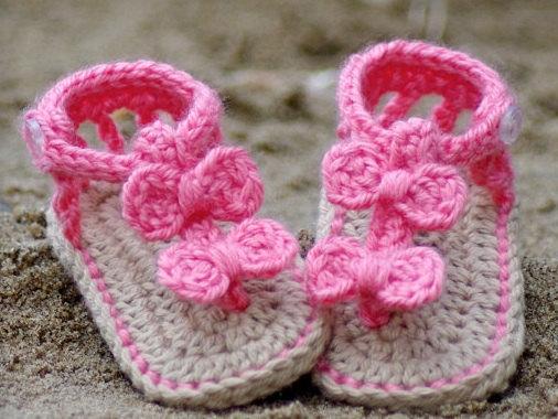 Como hacer sandalias para bebé en crochet paso a paso - Imagui