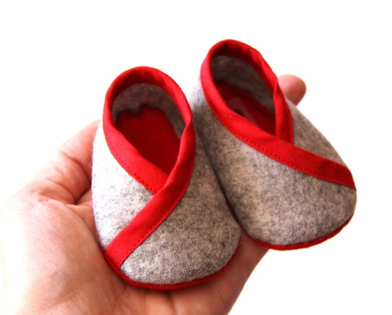 Felt Baby Shoes Purl Bee