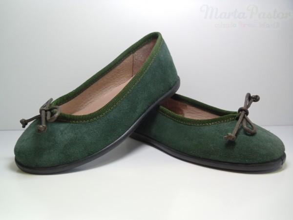 bailarinas-serraje-cordon-verde-botella-unisa