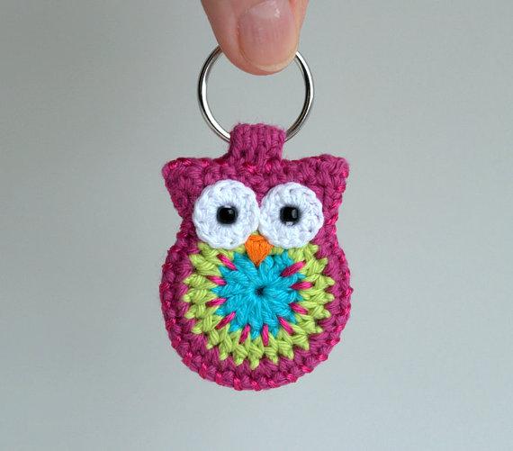 Crochet Unicorn Keychain