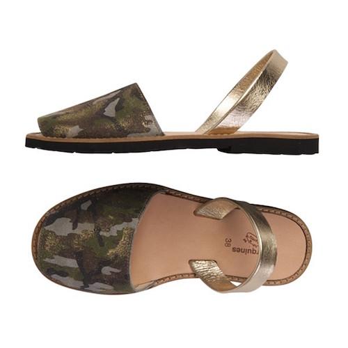 minorquines sandales-femmes-camouflage