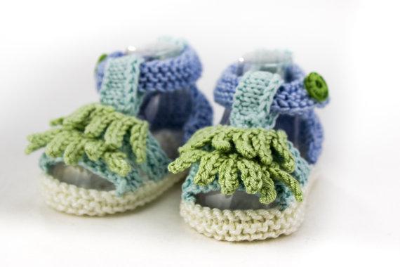 heaven to seven etsy crochet baby sandals 3