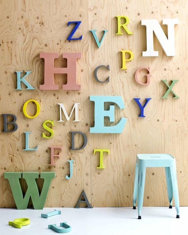 Kidsdepot me encantan las letras de madera para decorar - Letras decorativas pared ...