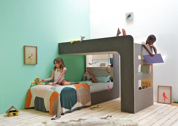 Cama con estantería Up and Down, diseños originales de muebles