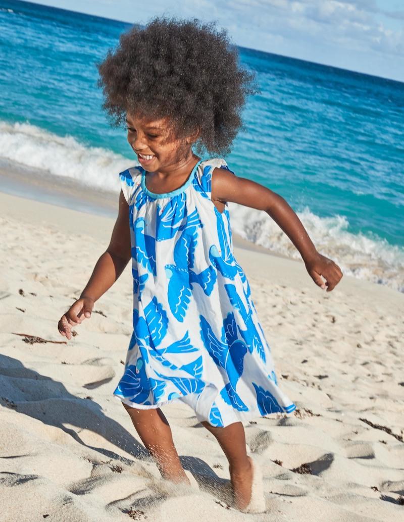 vestido playa niña