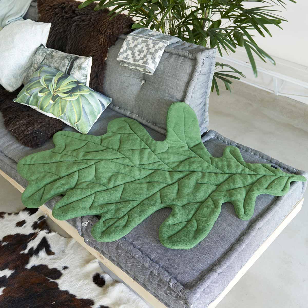 Leaf it decoración natural, alfombras mantas en forma de hoja