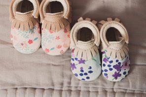 Amy and Ivor zapatos de piel para bebé con estampados originales