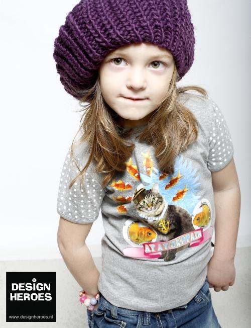 Design Heroes by Kunstboer, camisetas y vestidos para niñas con estampados originales, moda infantil
