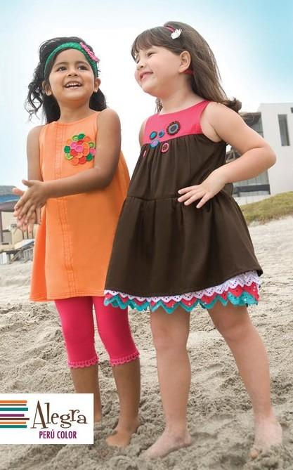 Alegra Perú Color, vestidos y ropa original para niñas, moda infantil colección de verano Alegra Perú Color