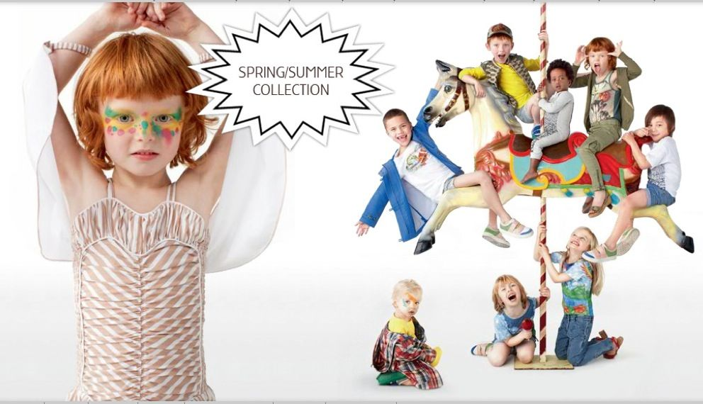 Stella McCartney Kids, conjuntos de moda infantil, ropa para niños colección de verano de Stella McCartney Kids