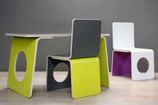 Sohier Design, mesas y sillas para la habitación infantil, muebles infantiles de Sohier Design