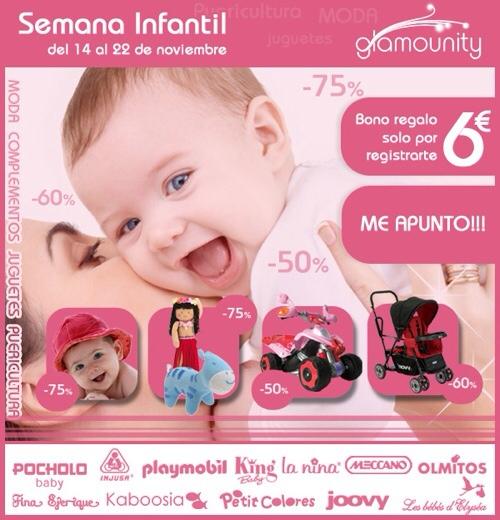 Glamounity, outlet infantil, venta de productos infantiles con descuento, semana de venta infantil Glamounity