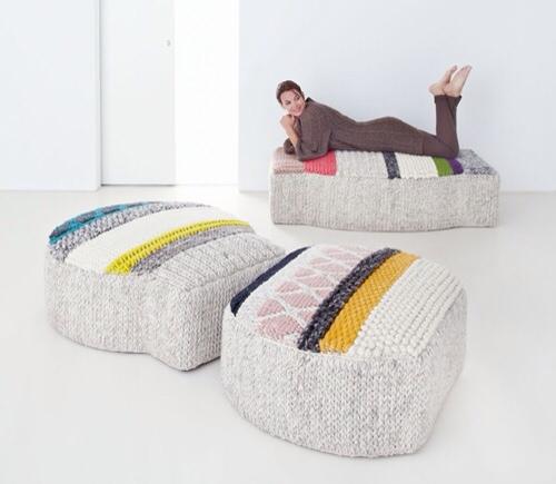 Gan-Rugs, alfombras y poufs para la habitación infantil y juvenil, decoración de Gan por Patricia Urquiola