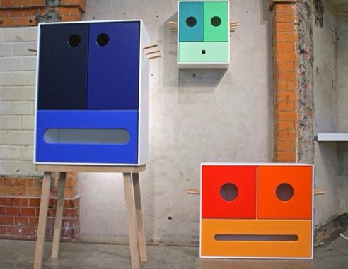 Hola Bandola, muebles para la habitación infantil, armarios originales para niños de Jørgen Platou Willumsen