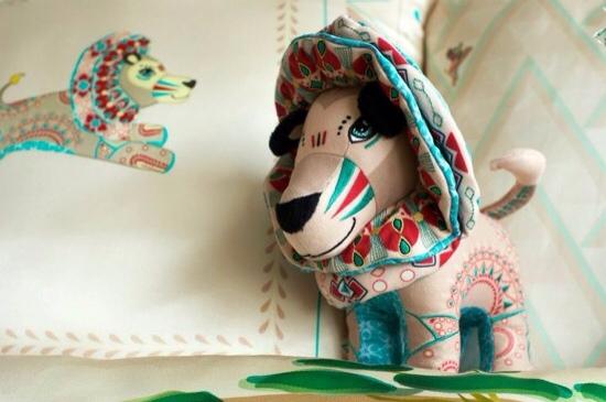 Papinee, cojines, muñecos y cuadros para la habitación infantil, accesorios decorativos de Papinee