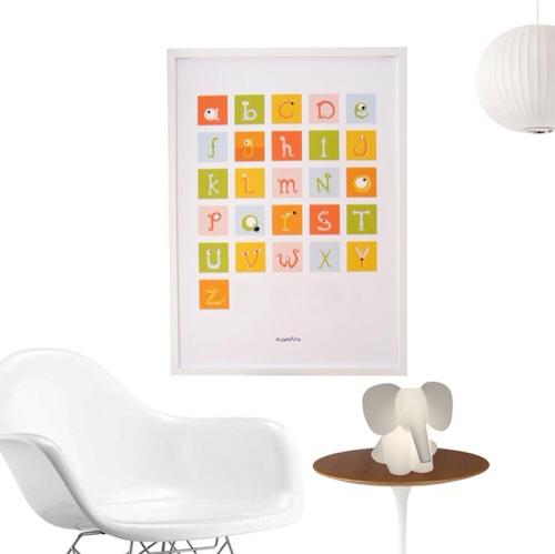 Alfabetika, decoración educativa, decoración infantil alfabetos y letras de Alfabetika