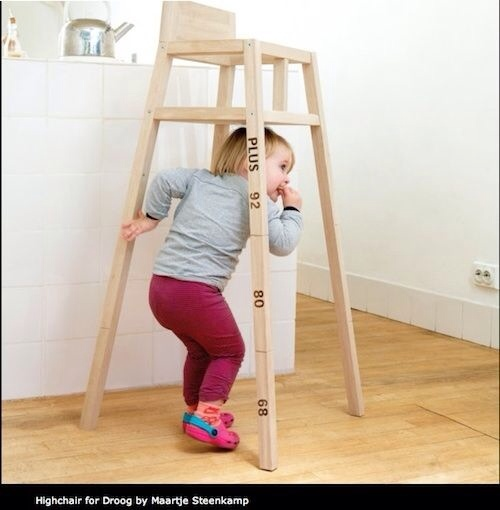 Droog Trona para bebés, trona de madera, accesorios de puericultura de Droog