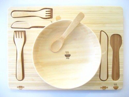 Funfam vajillas infantiles en bambú, vajillas bonitas en materiales naturales para bebés y niños de Funfam