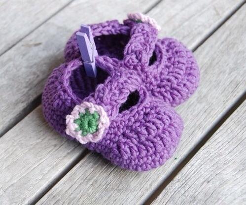 Zapatos de crochet para bebé