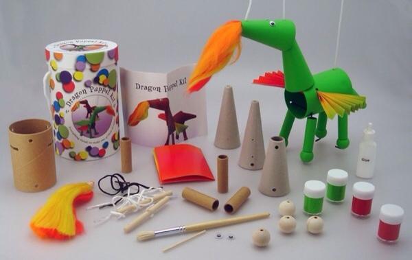 Cajas de manualidades para niños, marionetas para hacer en casa