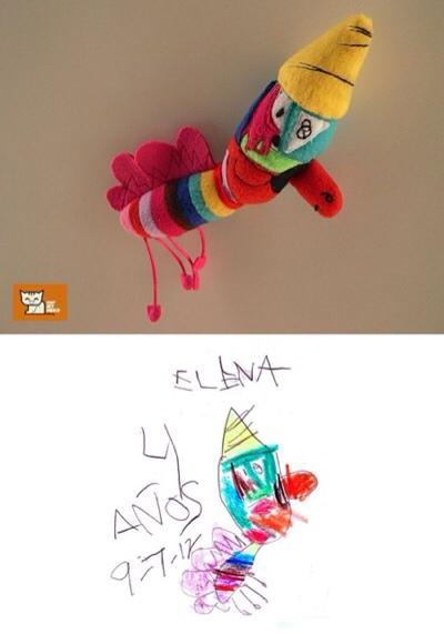 Los dibujos de vuestros hijos en forma de peluche
