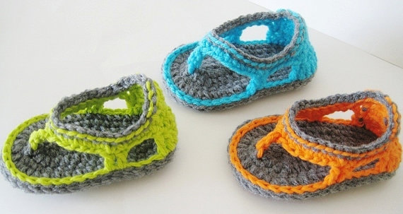 Sandalias en crochet para bebé