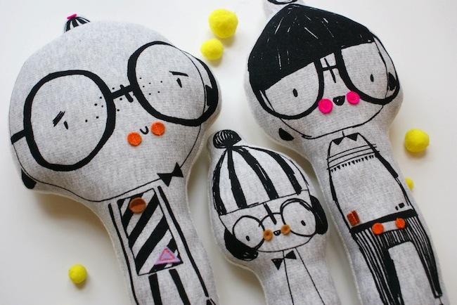 muñecos de fieltro