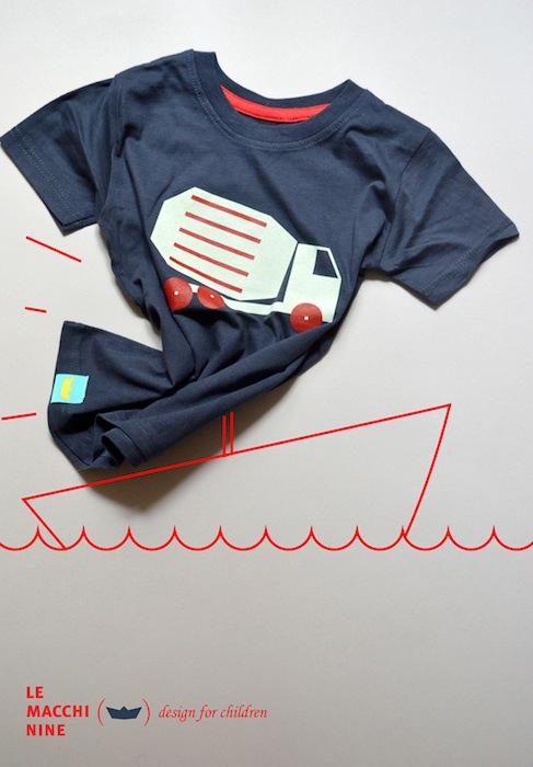 Camisetas originales para niños Le Macchinine camisetas originales para niños