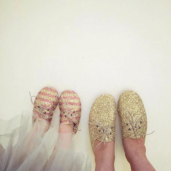 Anniel kids shoes mom glitter and daughter