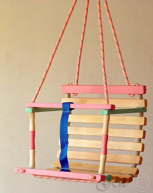 green wood LT Etsy wooden swing color