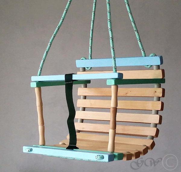 green wood LT Etsy wooden swing