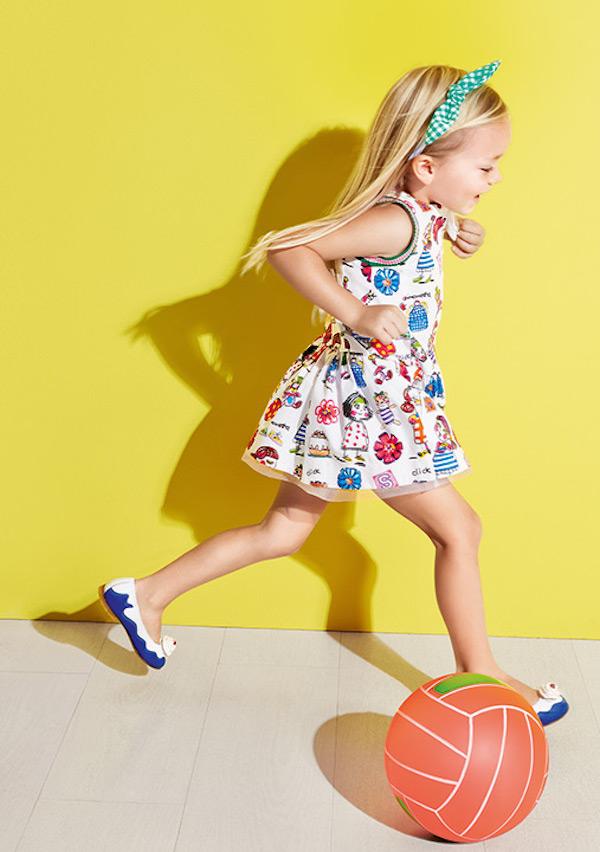 Vestidos para niñas de Simonetta simonetta colorful dresses