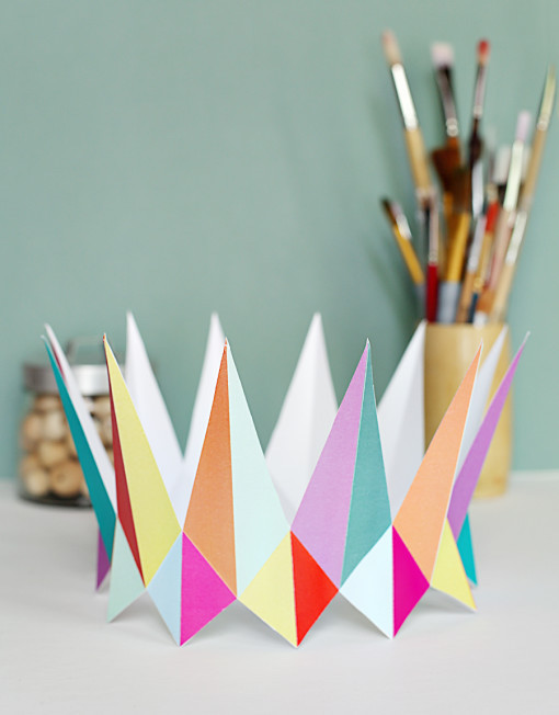 smallful corona cumpleaños geometrica
