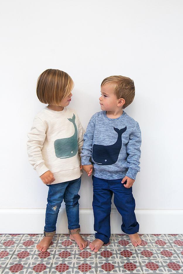 Moda ecológica para los niños Twothirds jumpers mini me