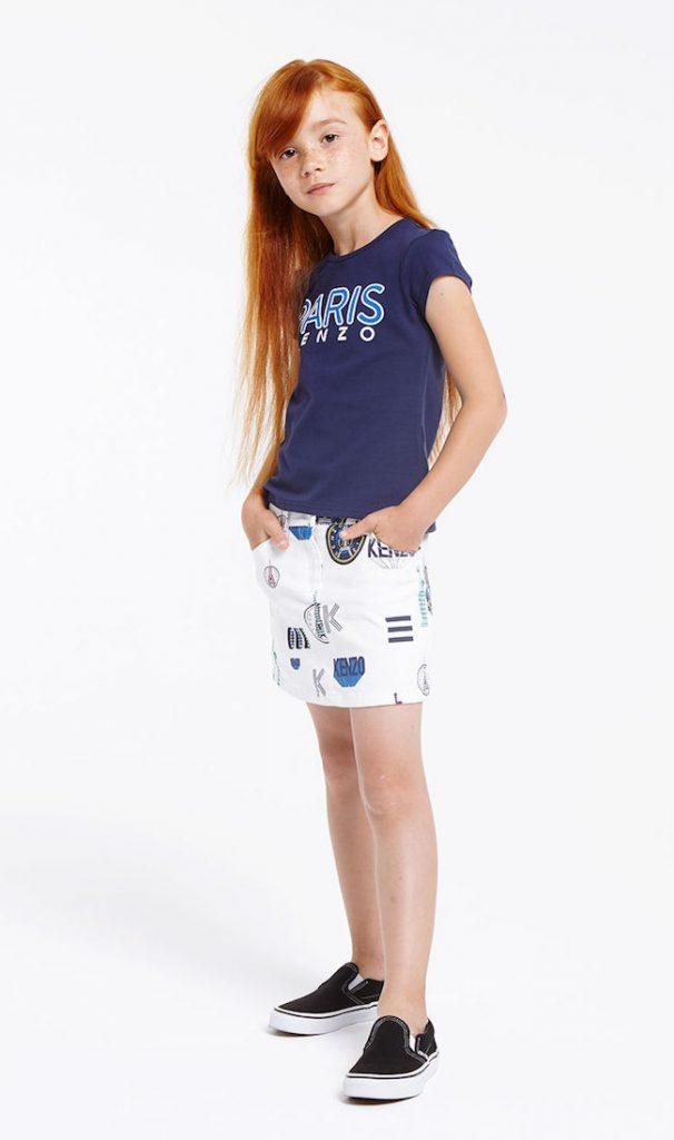 Kenzo niñas minifalda