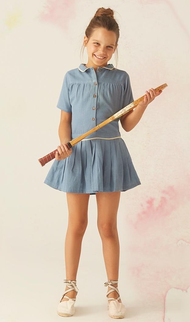 vestidos sencillos y elegantes para niñas