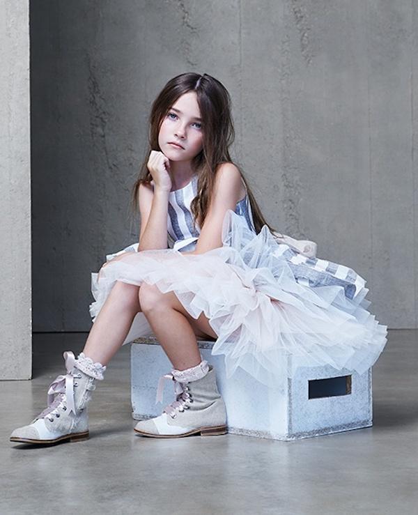 Hortensia Maeso adolescentes, moda niña para fiesta