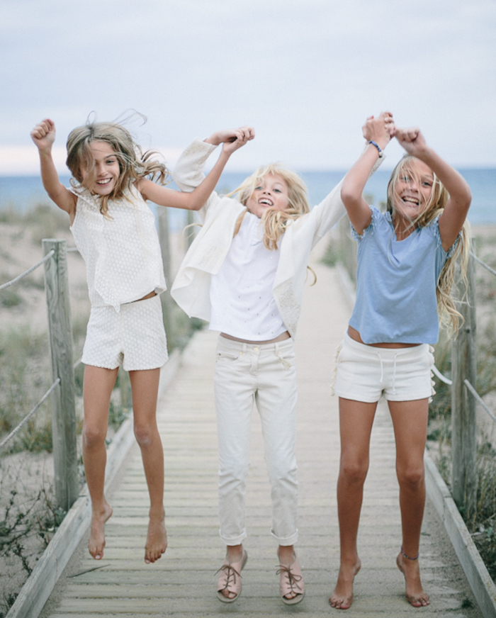 PaulineB moda niñas SS17, conjuntos elegantes