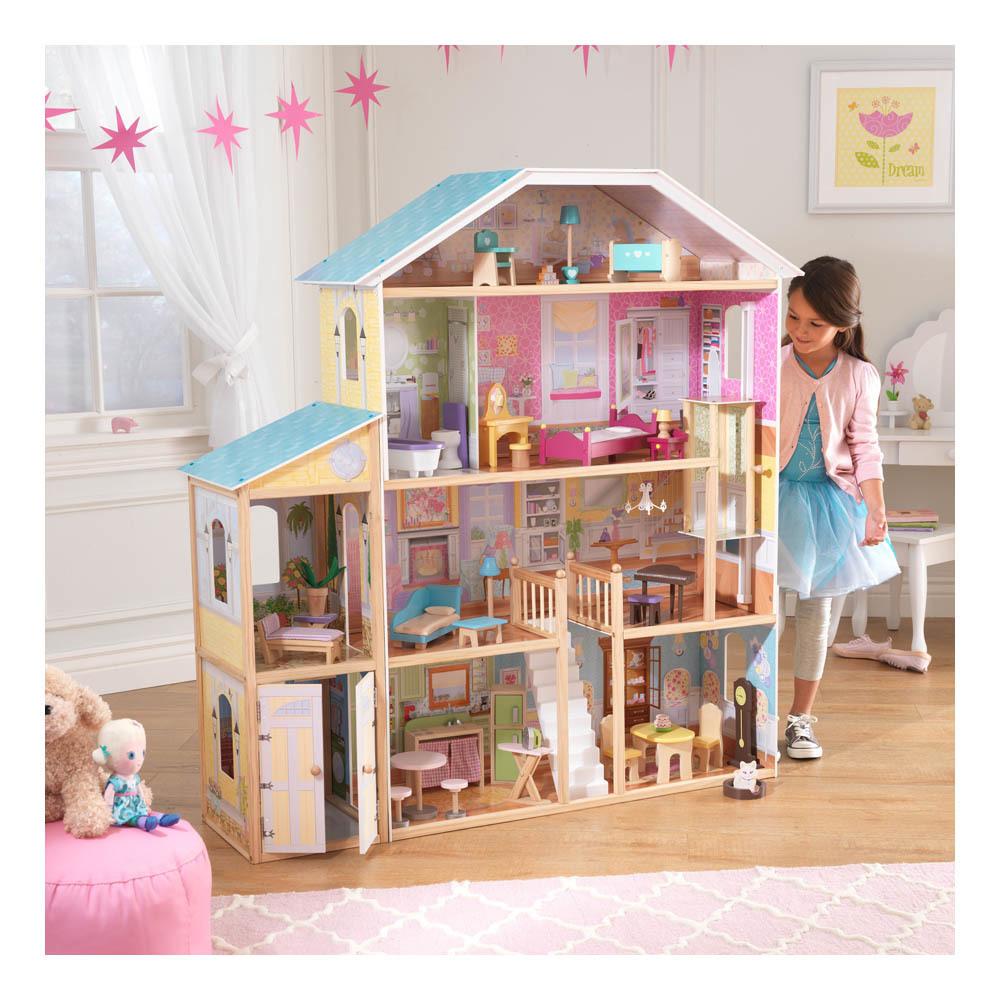 12 casas de muñecas de madera