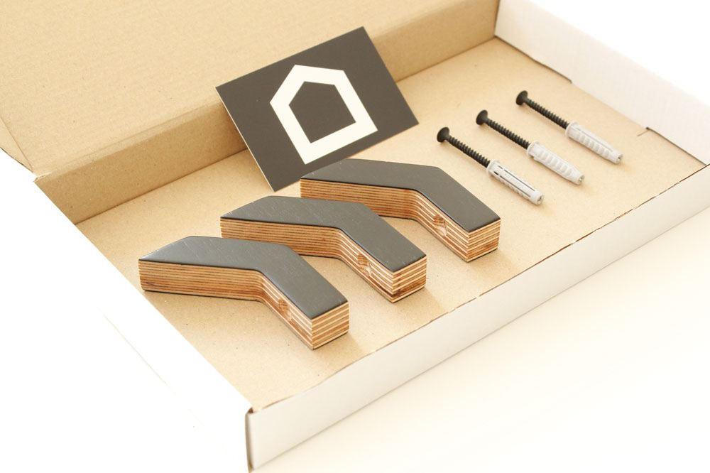Colgadores de ropa de madera para la pared