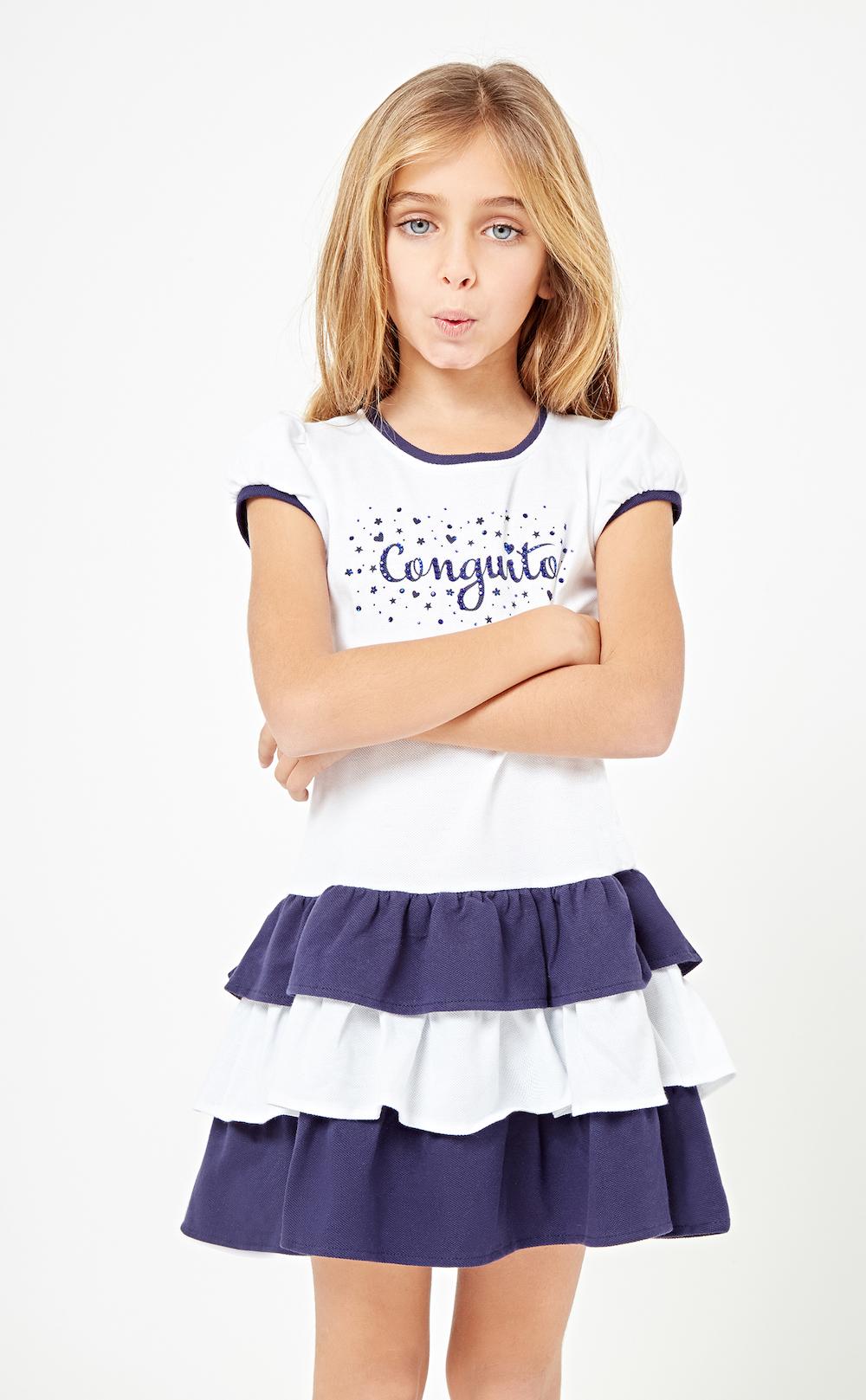 Conguitos lookbook SS18, colección de moda para niñas