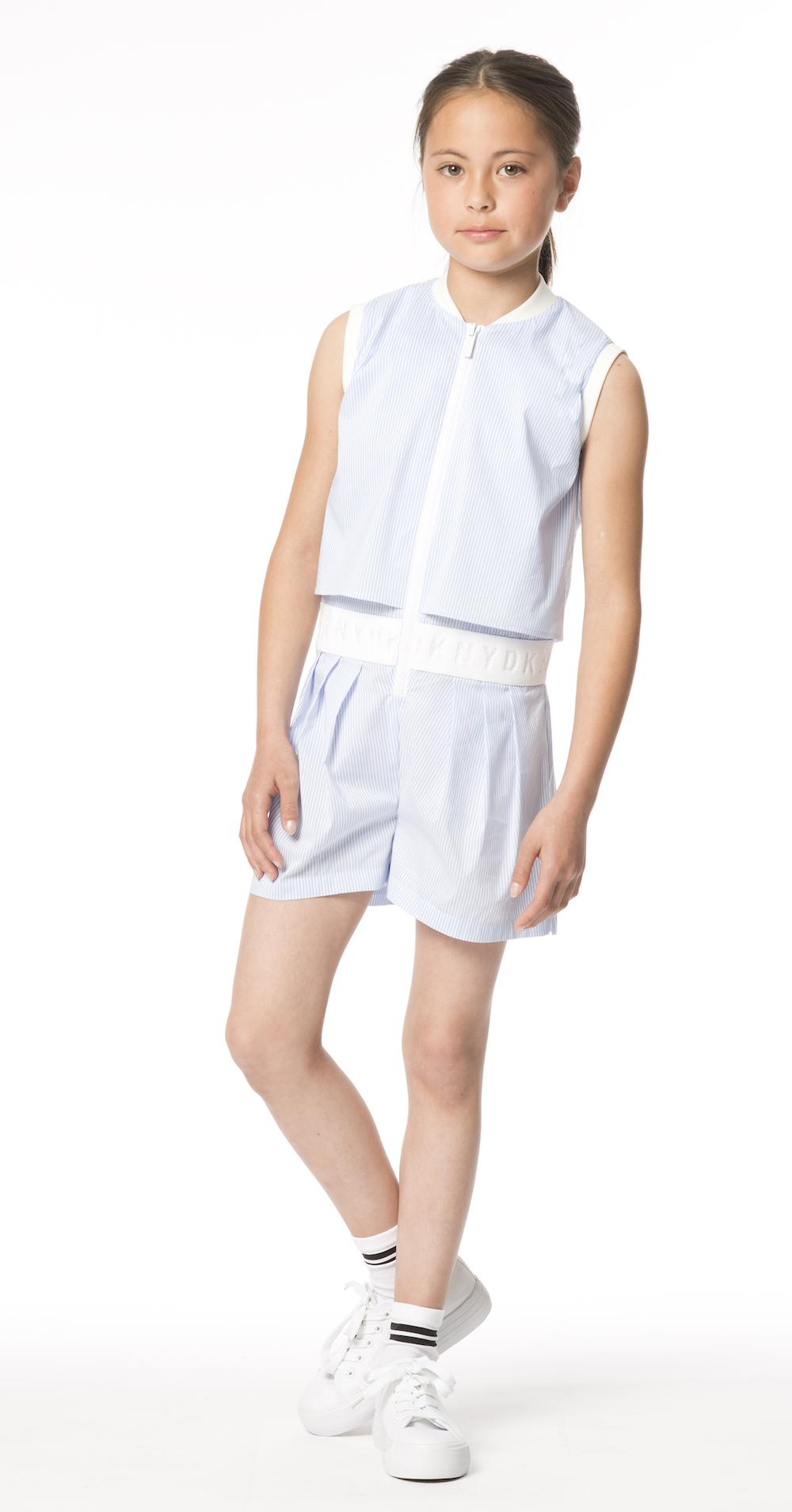 DKNY SS18 lookbook de moda infantil, campaña de verano